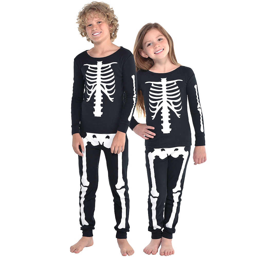 Nav Item for Child Skeleton Pajamas Image #1