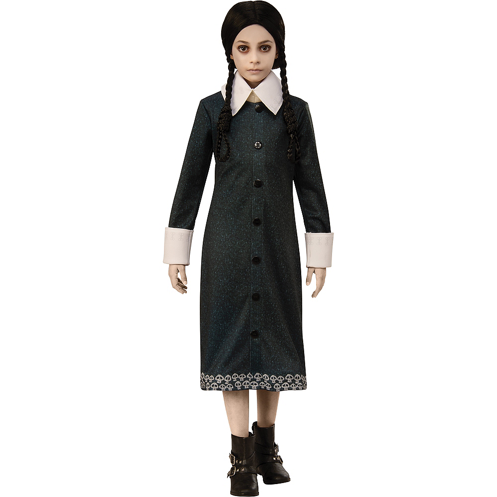 Child Wednesday Addams Costume - The Addams Family Animated Movie Image #1