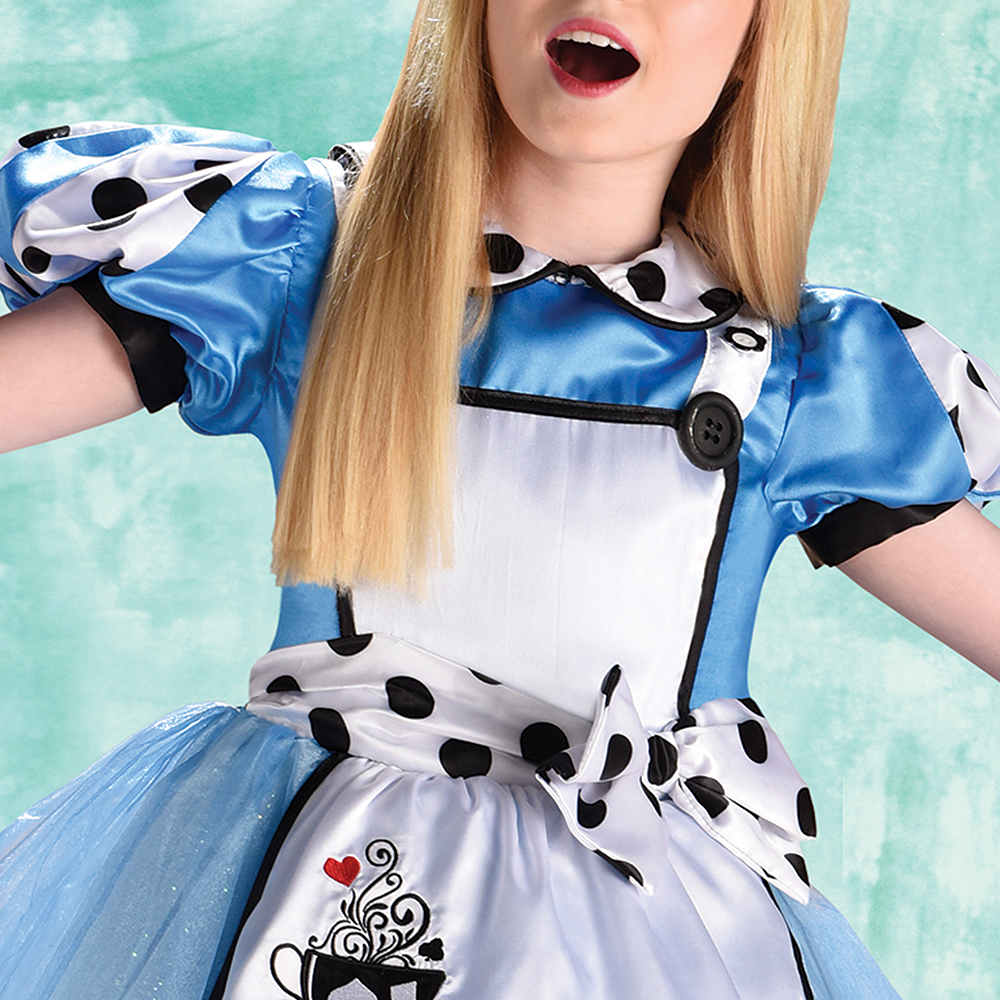 Child Curious Alice Costume Image #3