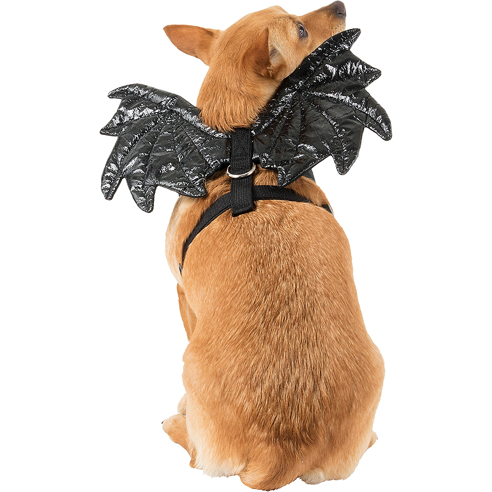 Black Sparkle Bat Wings Dog Harness Image #1