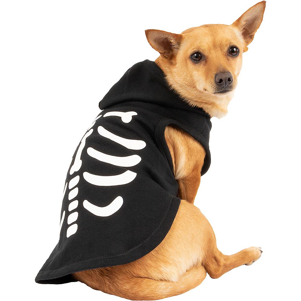 Black Skeleton Bone Dog Hoodie Image #1