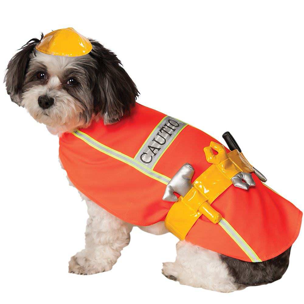 Construction Worker Dog Costume Image #1