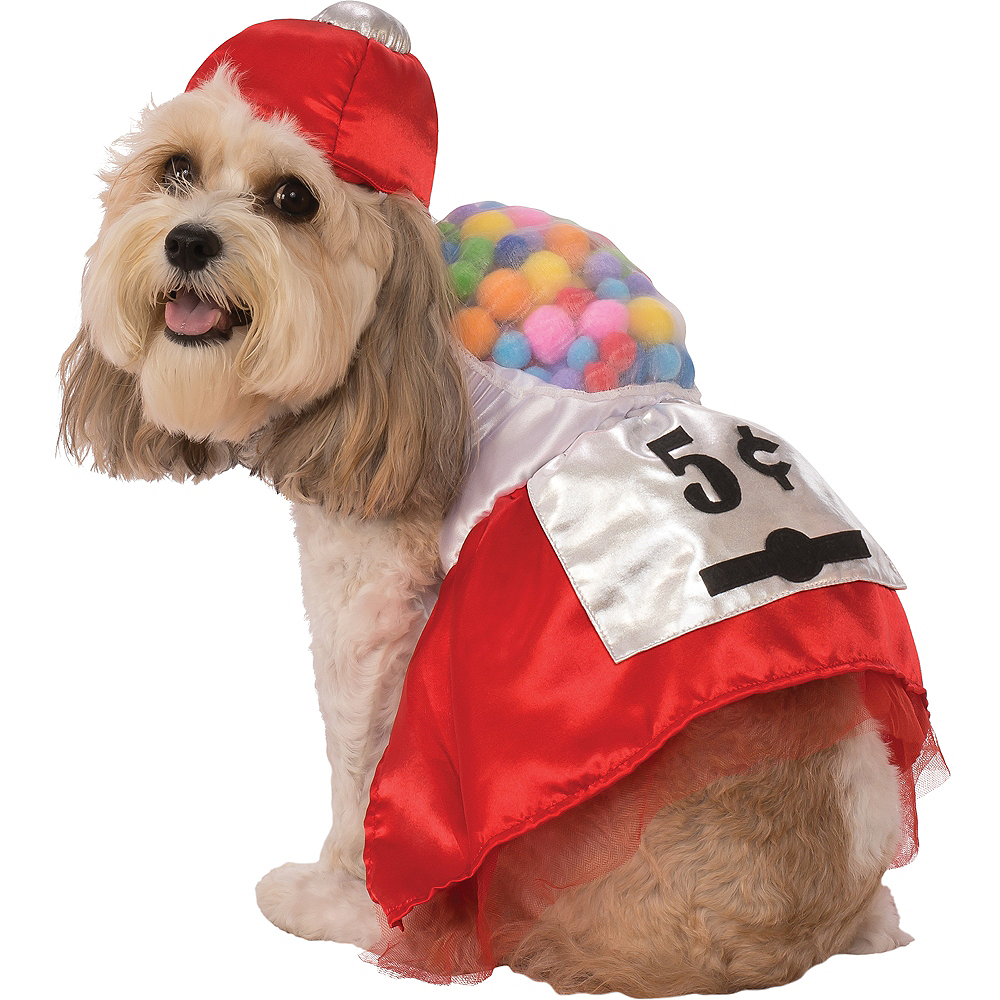 Red Gumball Machine Dog Costume Image #1