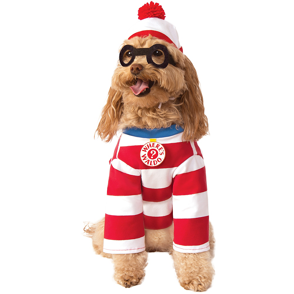 Nav Item for Where's Waldo Dog Costume Image #1