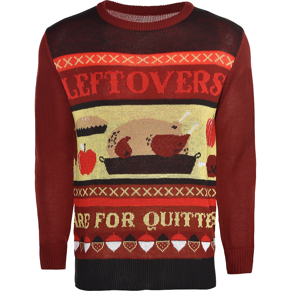 Adult Leftovers are For Quitters Ugly Sweater Image #1