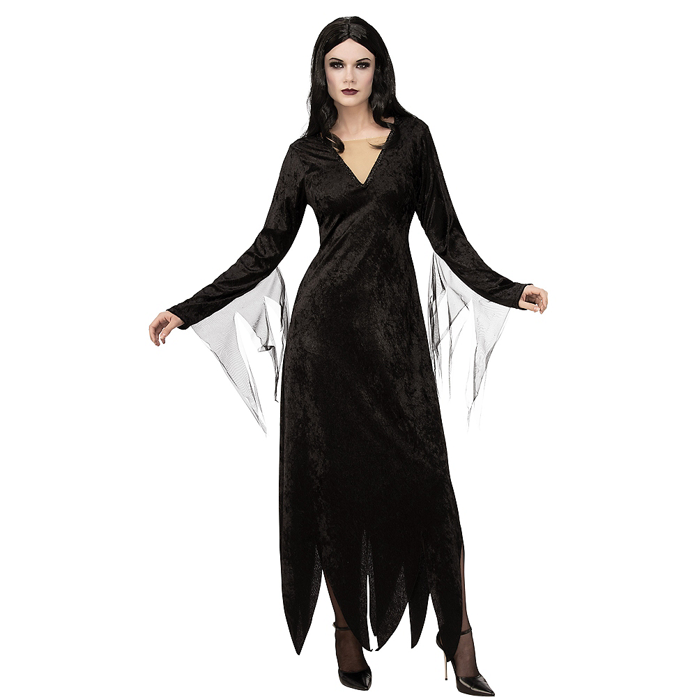 Nav Item for Adult Morticia Addams Costume - The Addams Family Animated Movie Image #1
