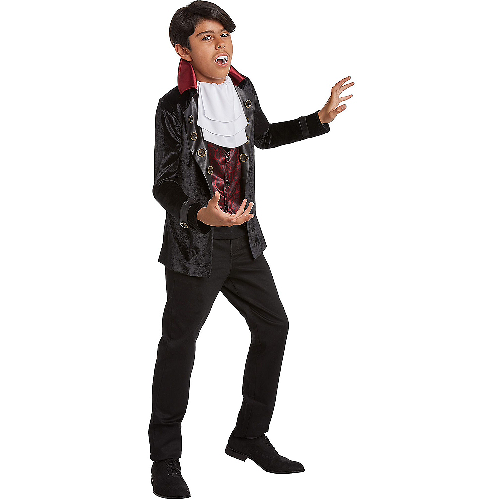 Nav Item for Child Velveteen Vampire Costume Image #1
