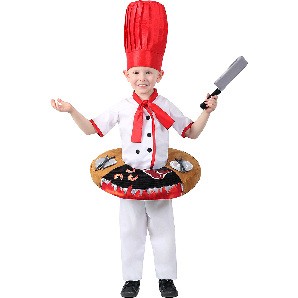 Child Hibachi Chef Costume Image #1