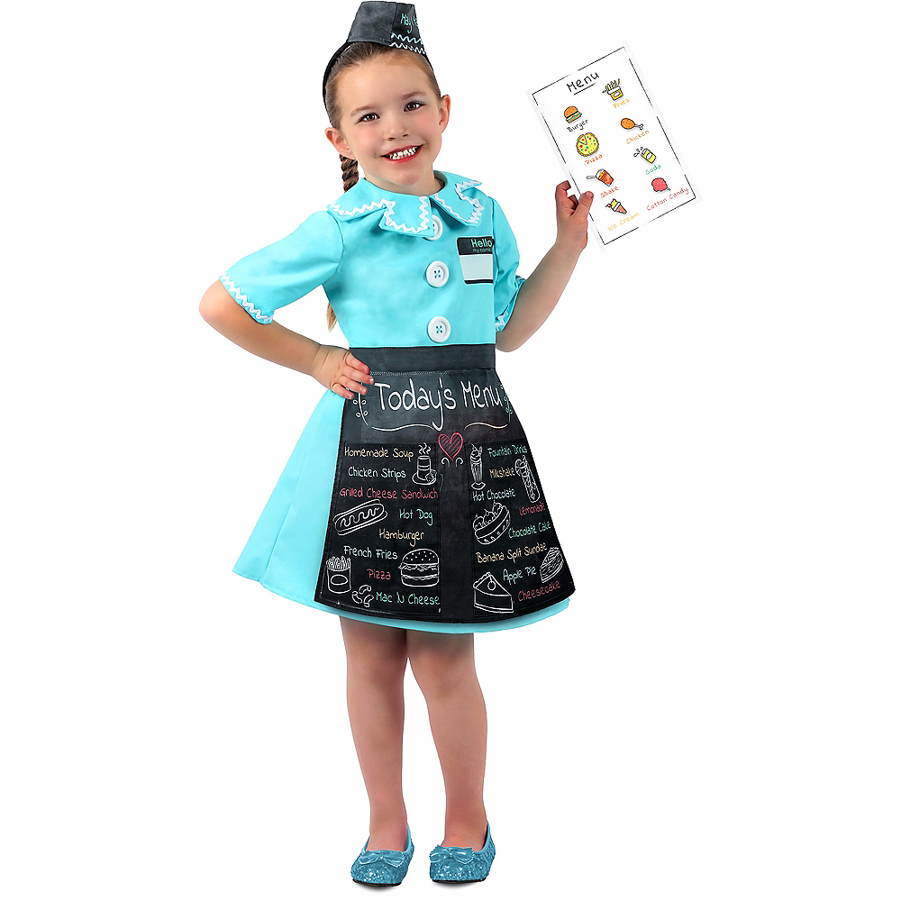 Nav Item for Child Diner Waitress Costume Image #1