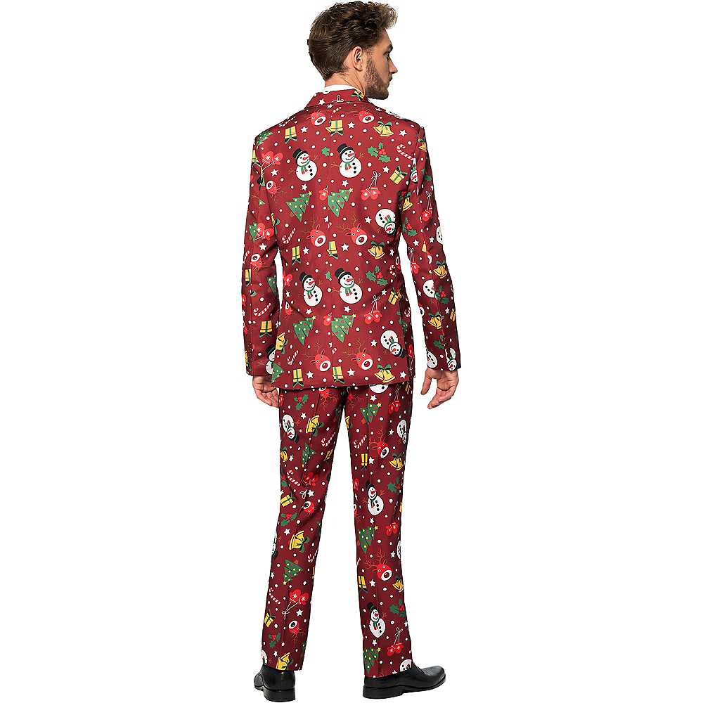 Adult Light-Up Red Christmas Suit Image #2