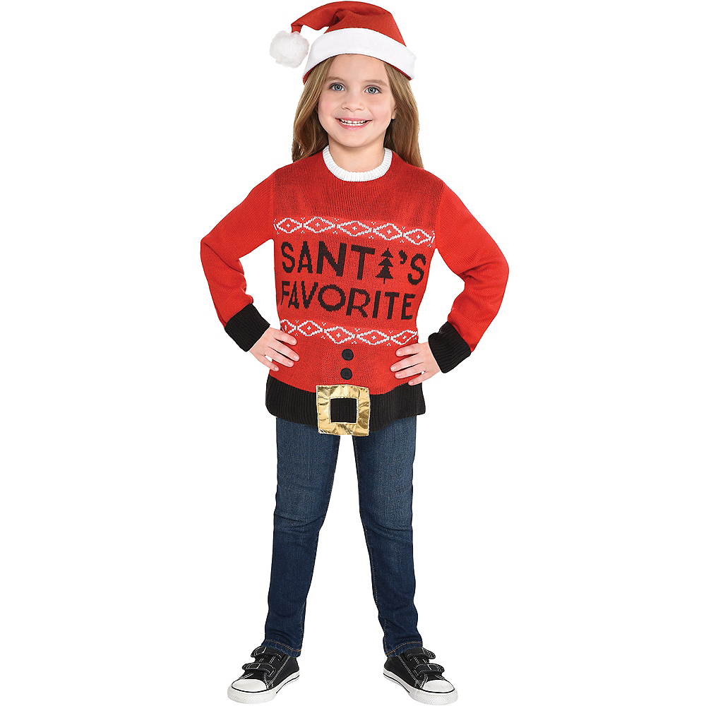 Ugly Christmas Sweater Kids.Child Santa S Favorite Ugly Christmas Sweater