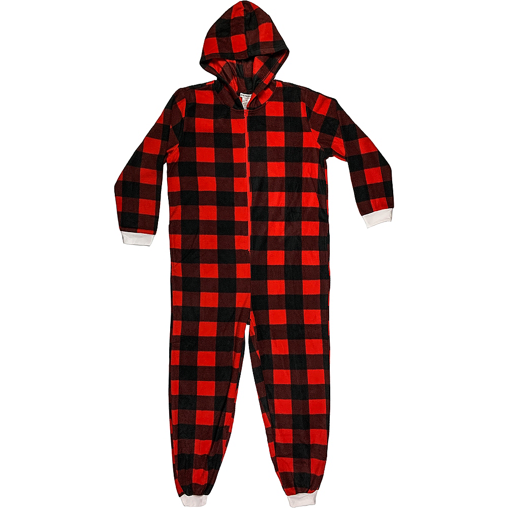 Adult Zipster Plaid One Piece Costume Image #1