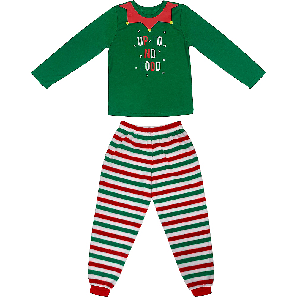 Child's Elf Pajamas Set 2pc Image #1