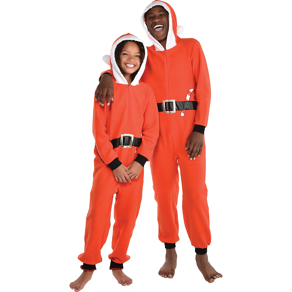 Child Zipster Santa Suit One Piece Costume Image #1