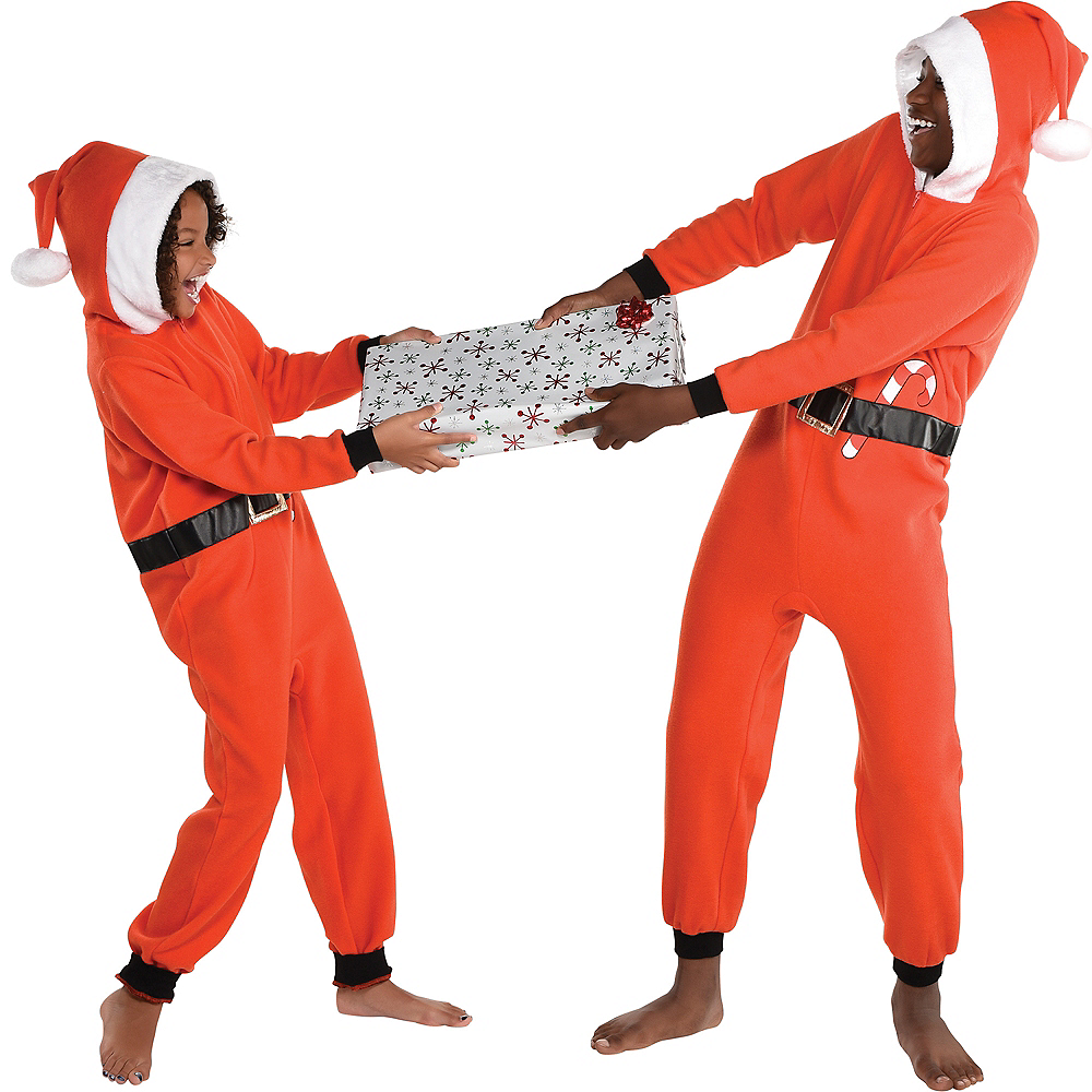 Child Zipster Santa Suit One Piece Costume Image #2