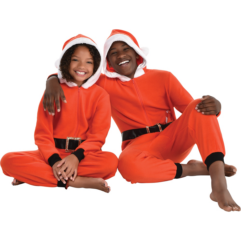 Child Zipster Santa Suit One Piece Costume Image #3