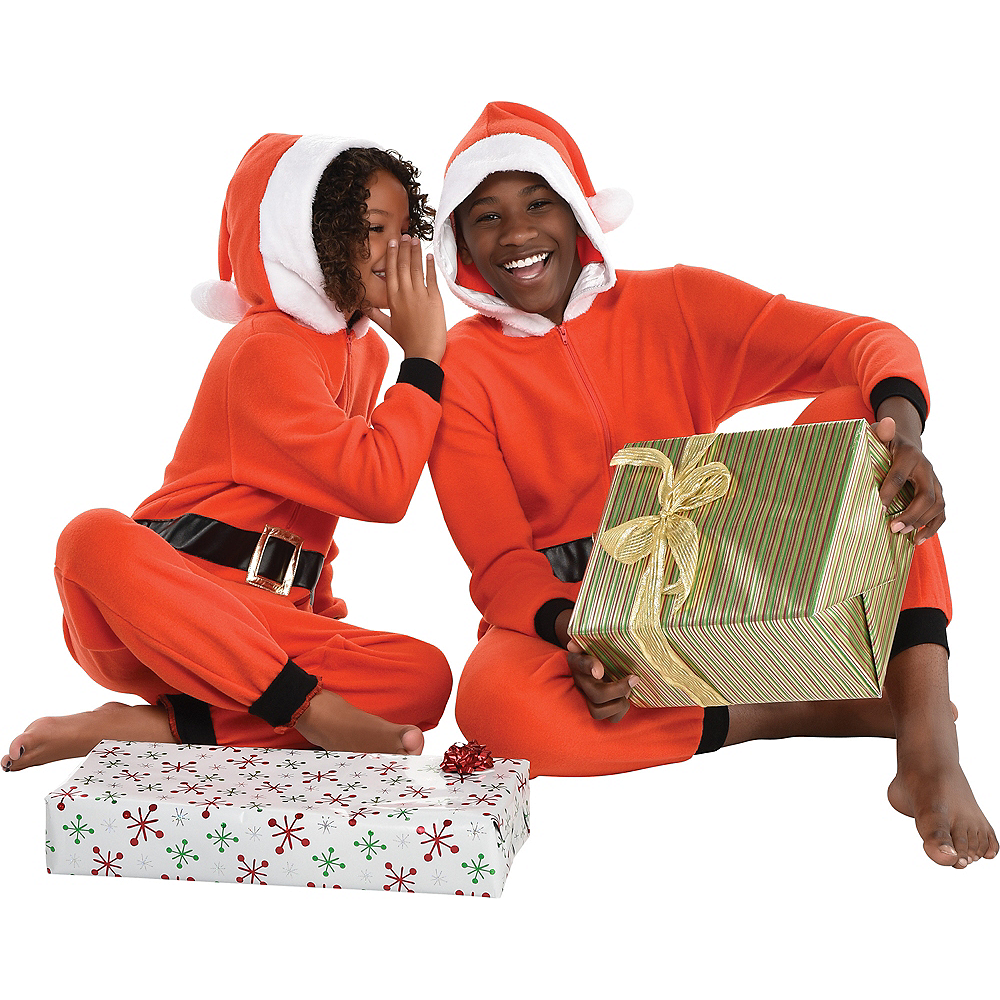 Child Zipster Santa Suit One Piece Costume Image #4