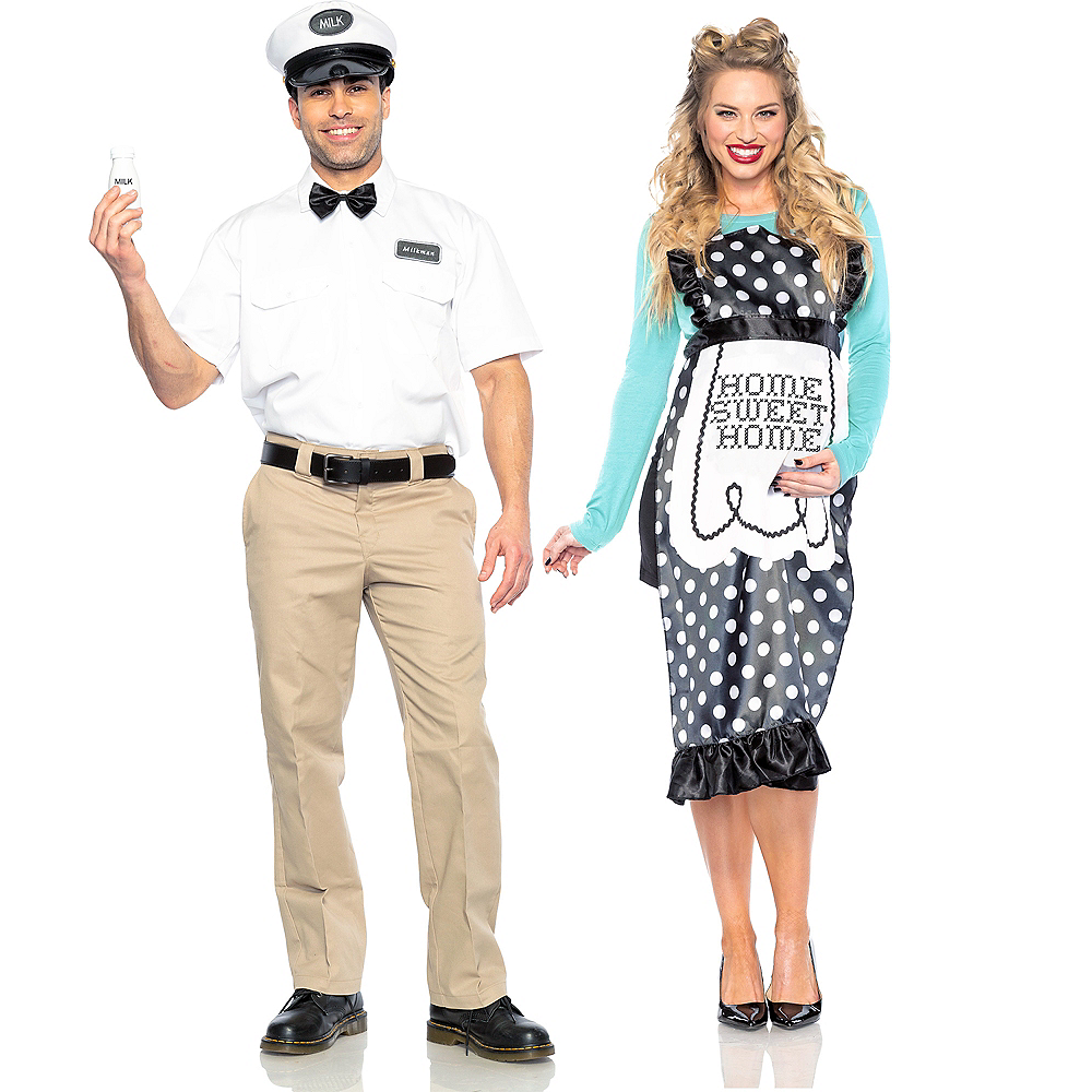 Adult Milk Man & 40s Mom Couples Maternity Costumes Image #1