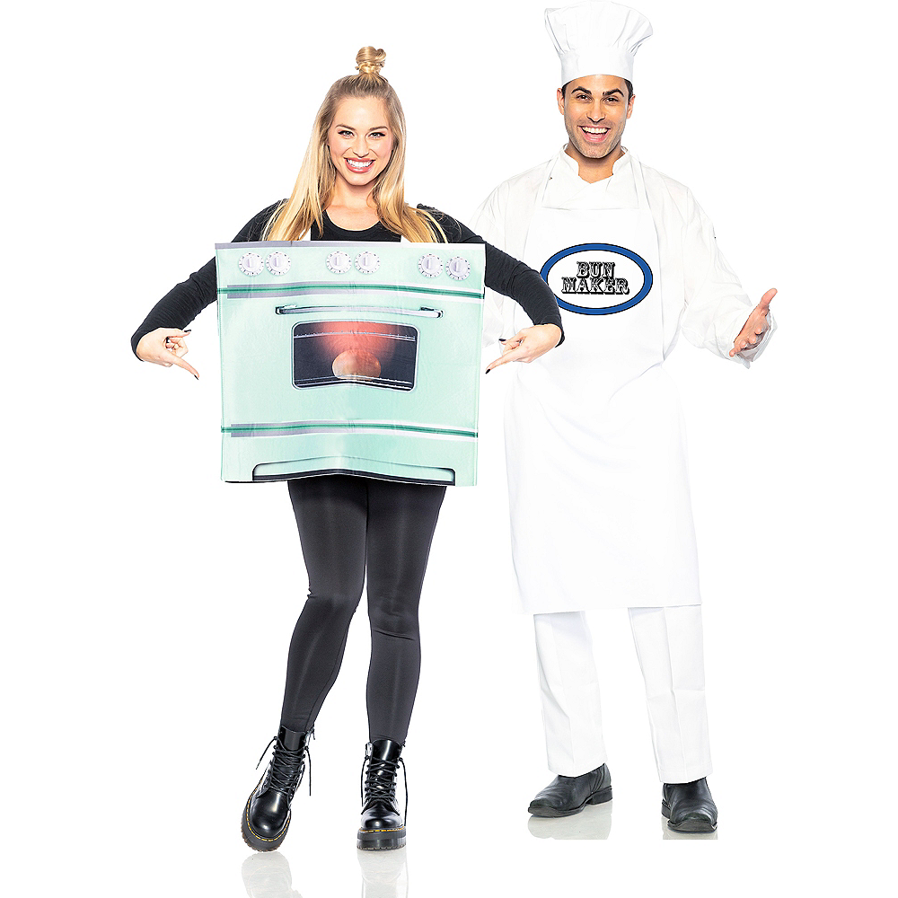 Adult Chef & Bun in the Oven Couples Costumes Image #1