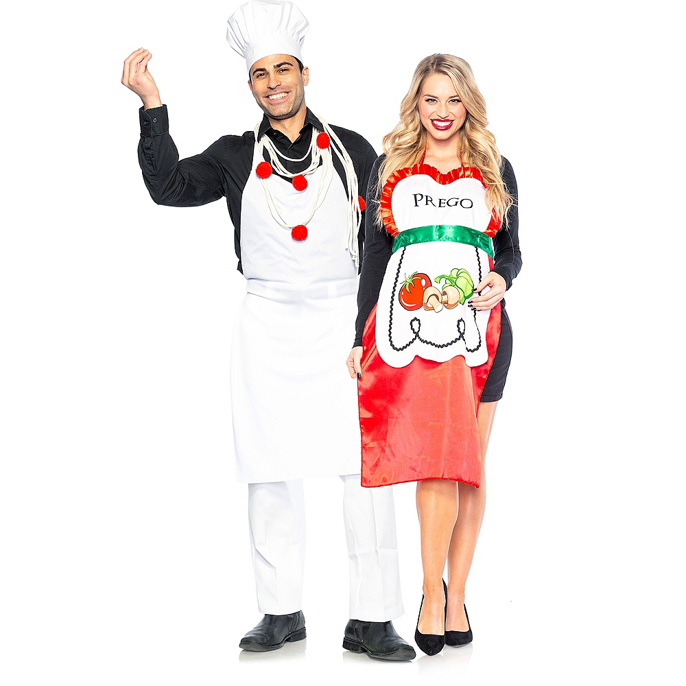 Adult Pasta Chef & Prego Couples Costumes Image #1