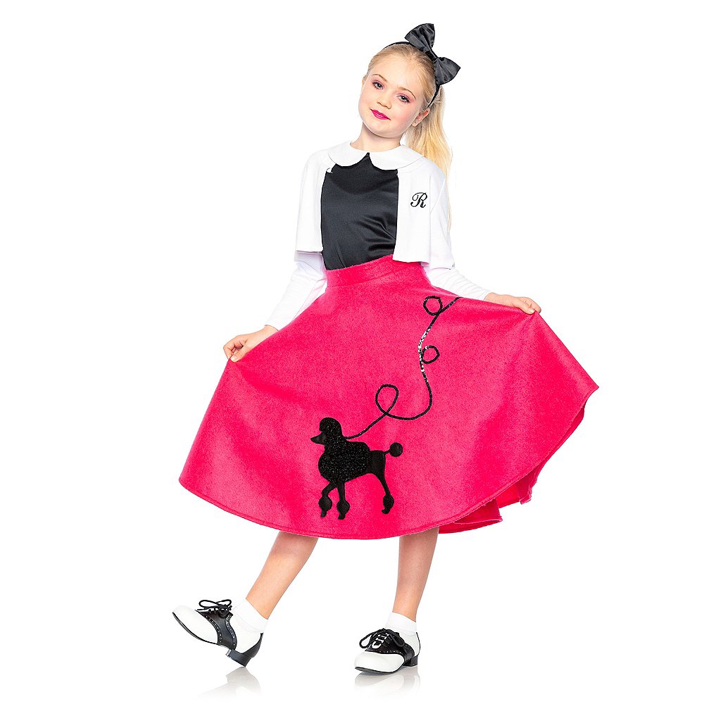 Child Poodle Skirt 50s Costume Image #1