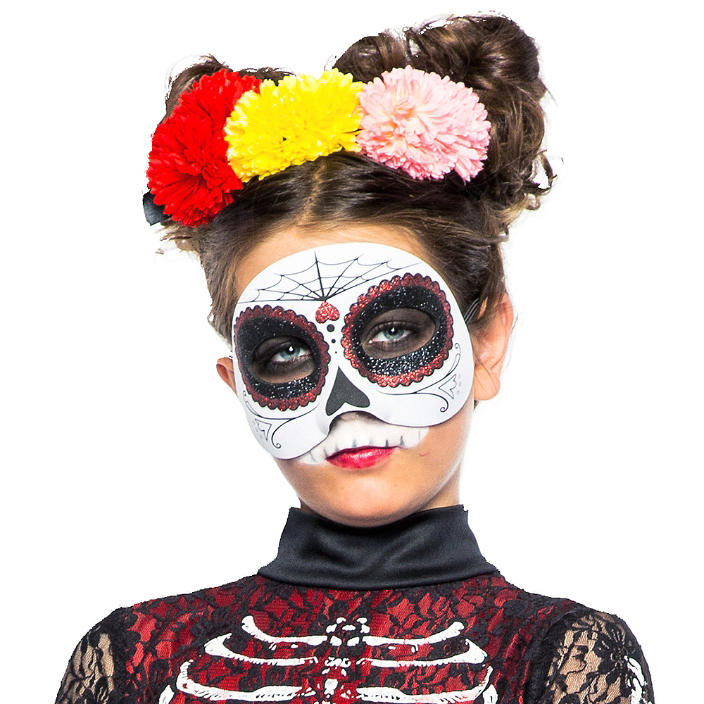 Child Lacy Day of the Dead Costume Image #3