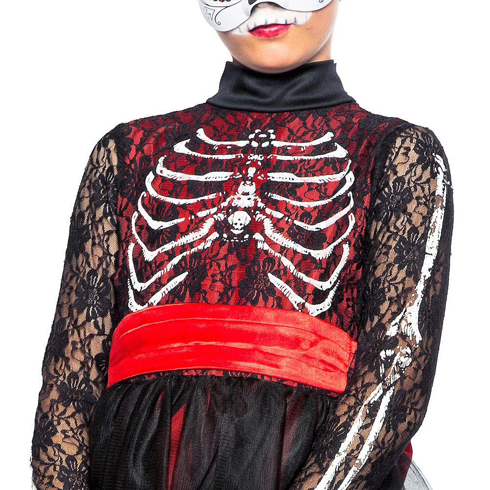 Child Lacy Day of the Dead Costume Image #4