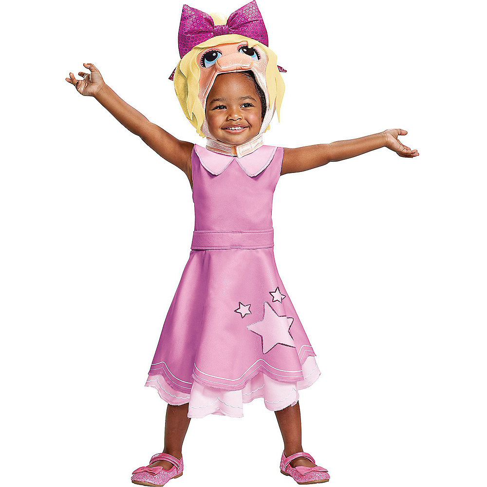 Toddler Miss Piggy Costume - Muppet Babies Image #1