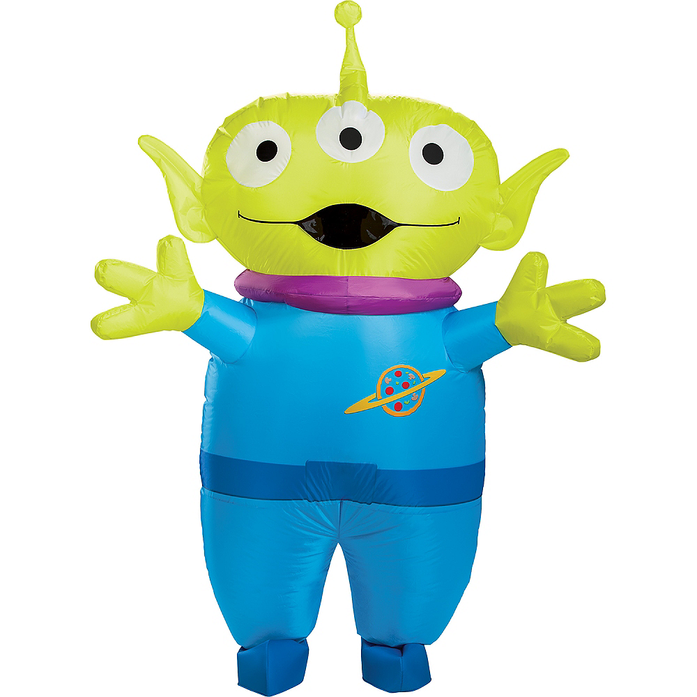 Adult Inflatable Alien Costume - Toy Story 4 Image #1