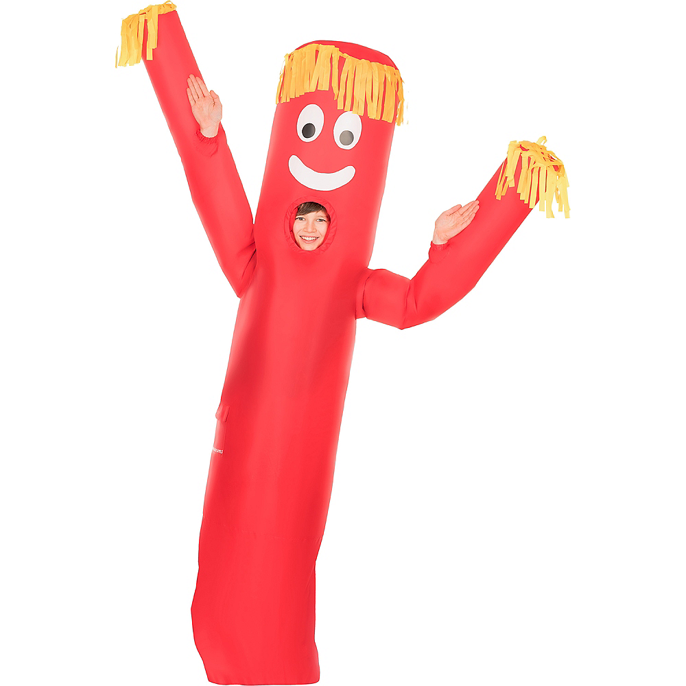Child Inflatable Red Tube Guy Costume Image #1
