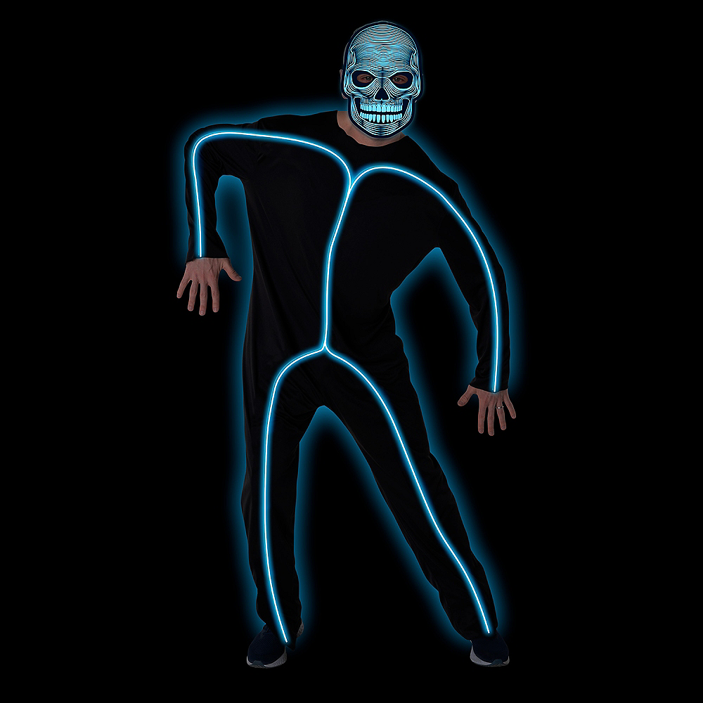 Nav Item for Adult Light-Up Blue Stick Man Costume Image #3
