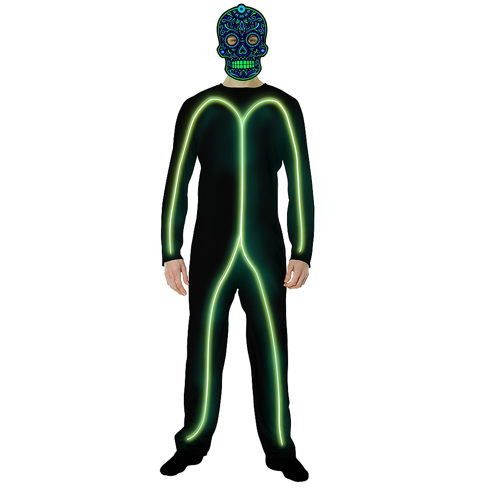 Adult Light-Up Green Stick Man Costume Image #2
