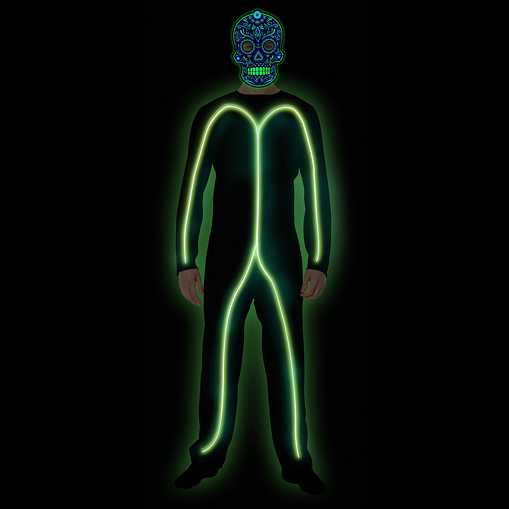 Adult Light-Up Green Stick Man Costume Image #3