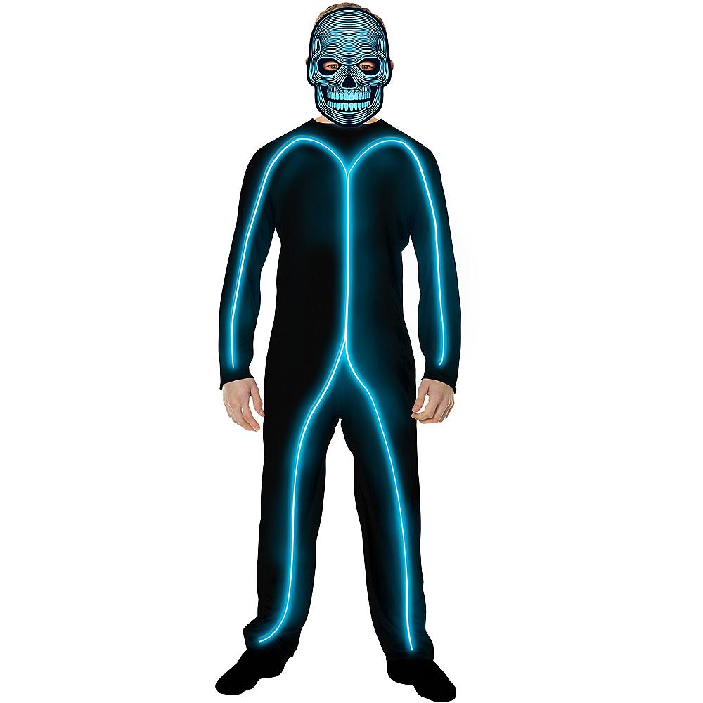 Child Light-Up Blue Stick Man Costume Image #3