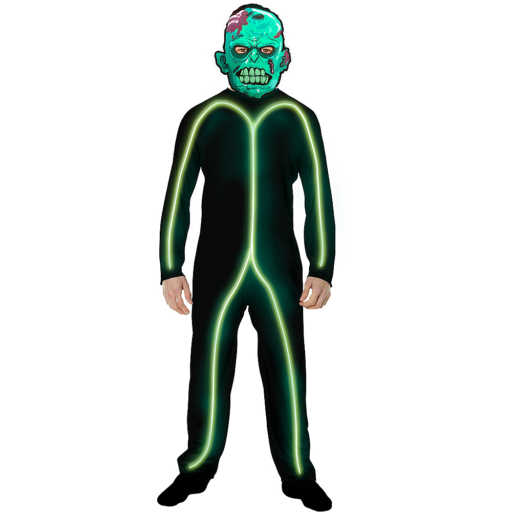 Child Light-Up Green Stick Man Costume Image #3