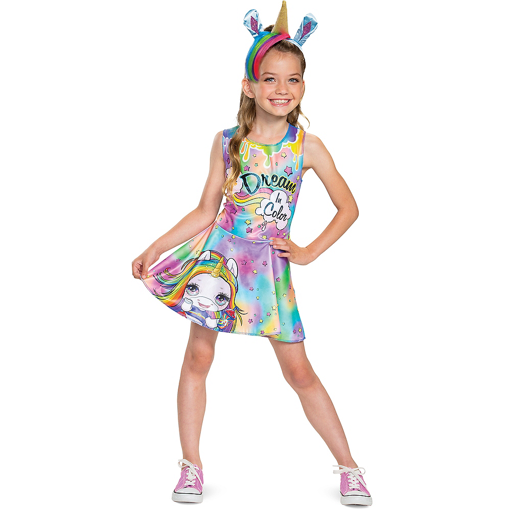 Child Rainbow Brightstar Costume - Poopsie Slime Surprise Unicorn Image #1