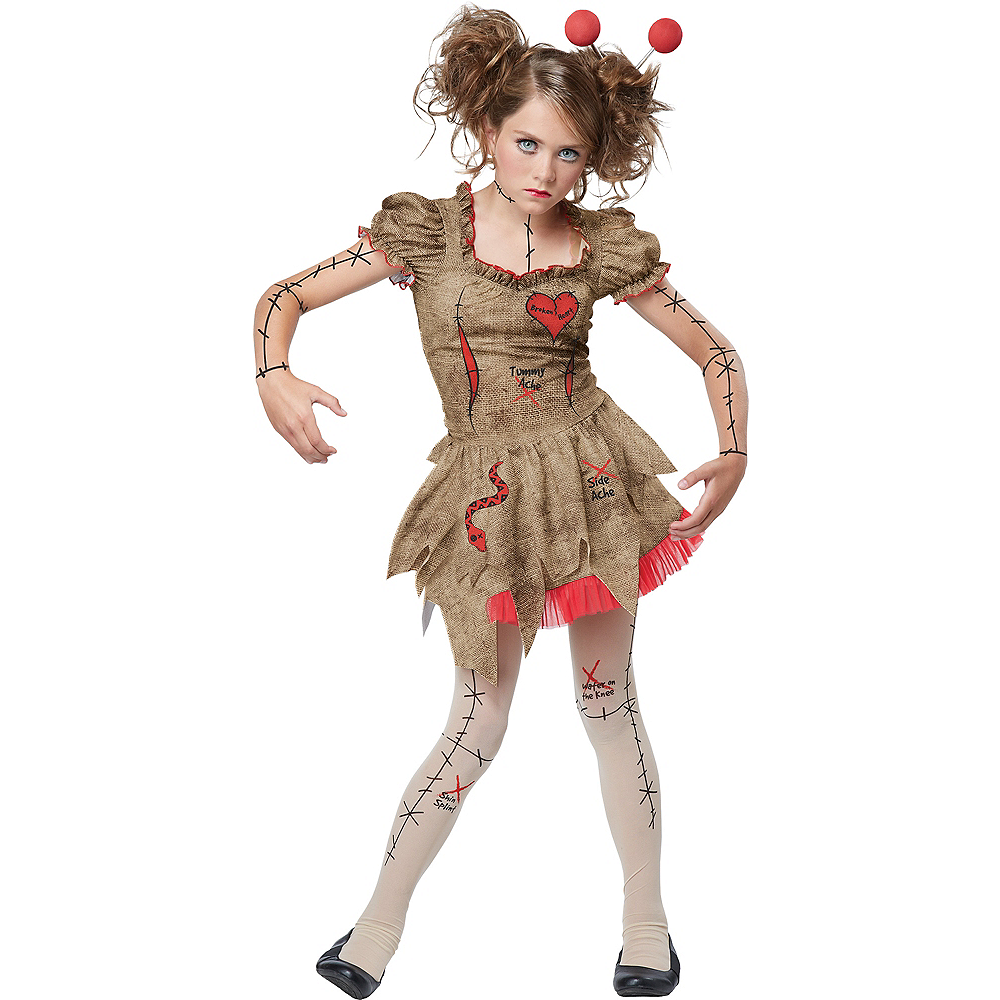 Child Voodoo Dolly Costume Image #1