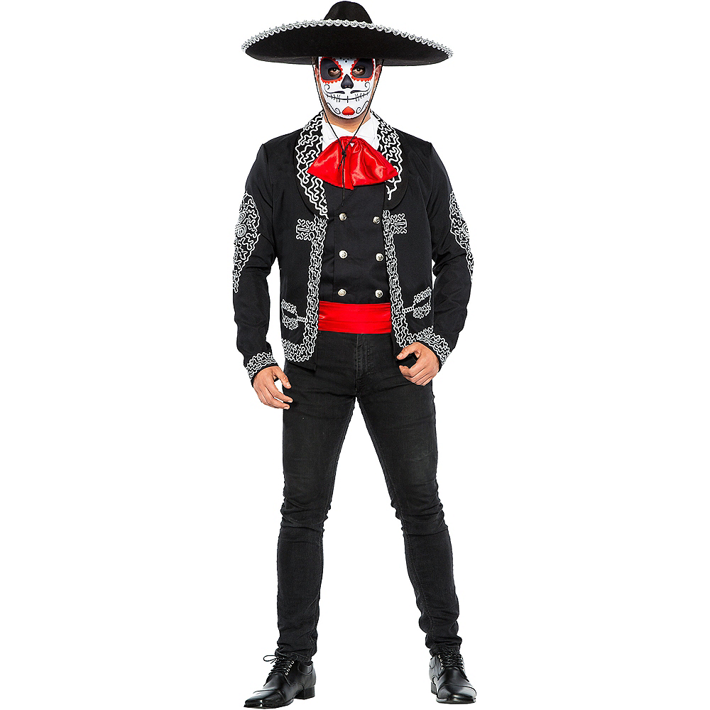 Adult Traditional Day of the Dead Costume Image #1