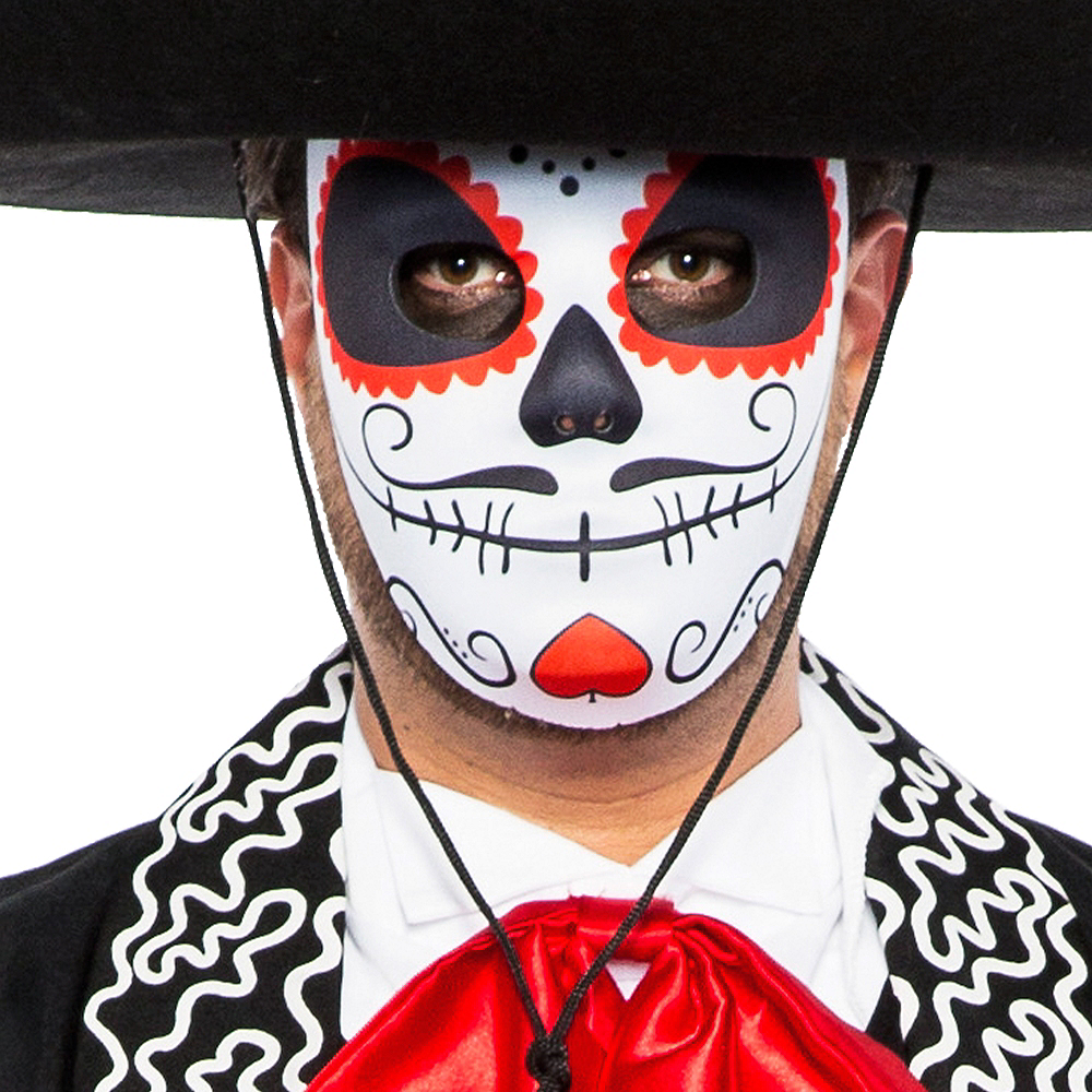 Adult Traditional Day of the Dead Costume Image #3