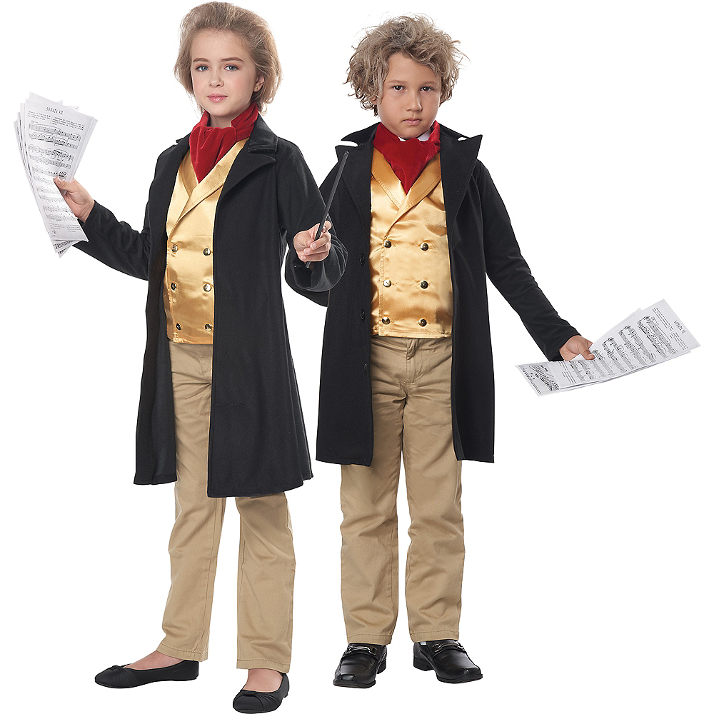 Nav Item for Child Ludwig Van Beethoven Costume Image #1
