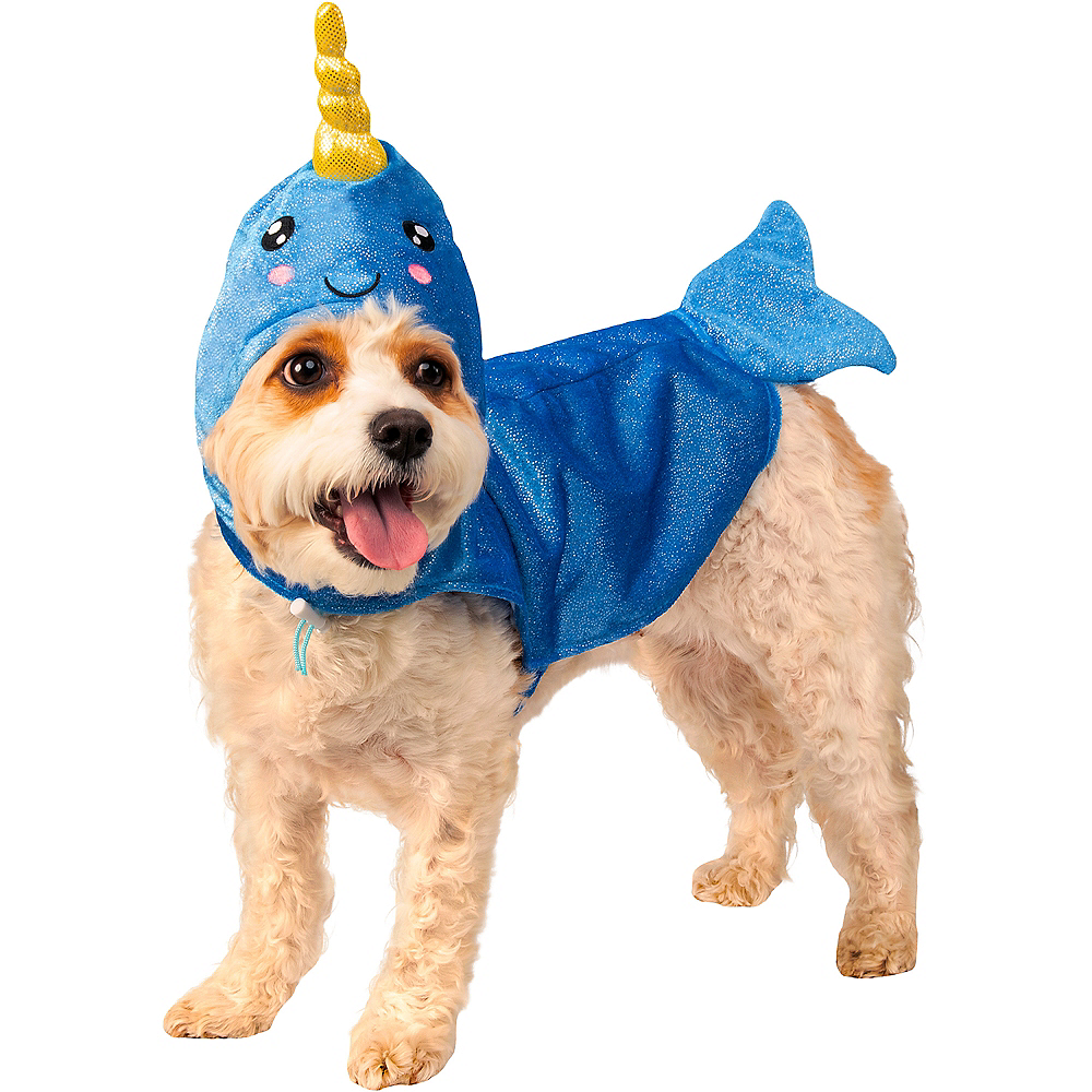 Narwhal Dog Hoodie Costume Image #1