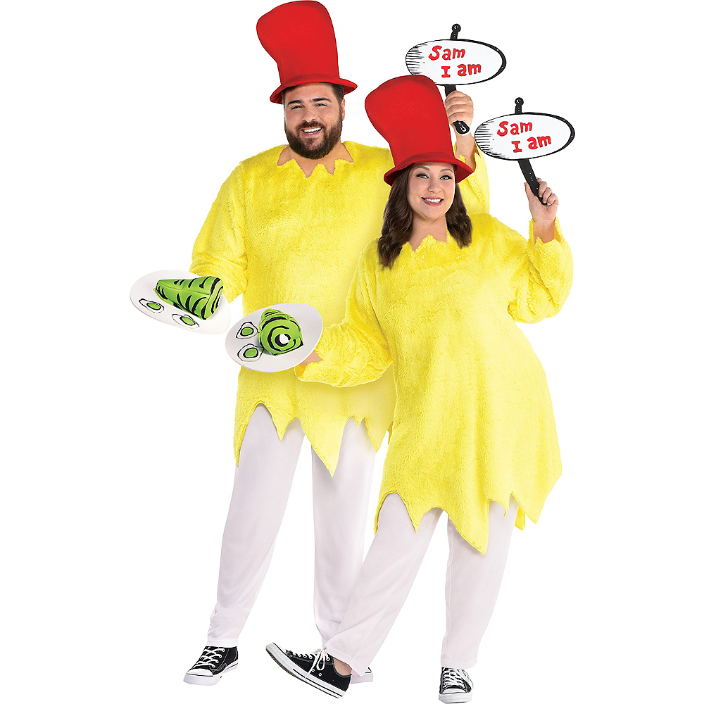 Adult Sam I Am Costume Plus Size - Dr. Seuss Image #1