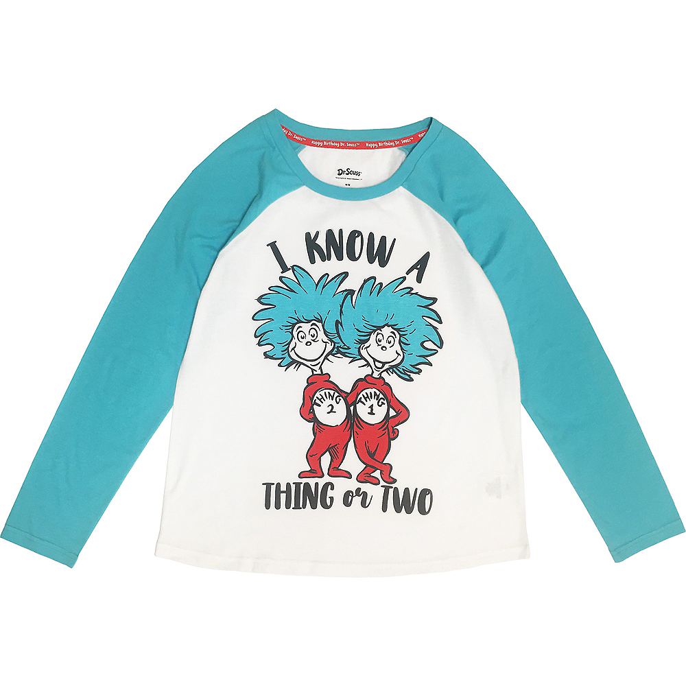 Adult A Thing or Two Long-Sleeve Shirt - Dr. Seuss Image #1