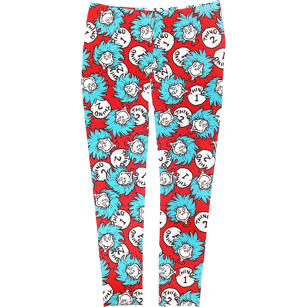 Adult Thing 1 & 2 Lounge Leggings - Dr. Seuss Image #1