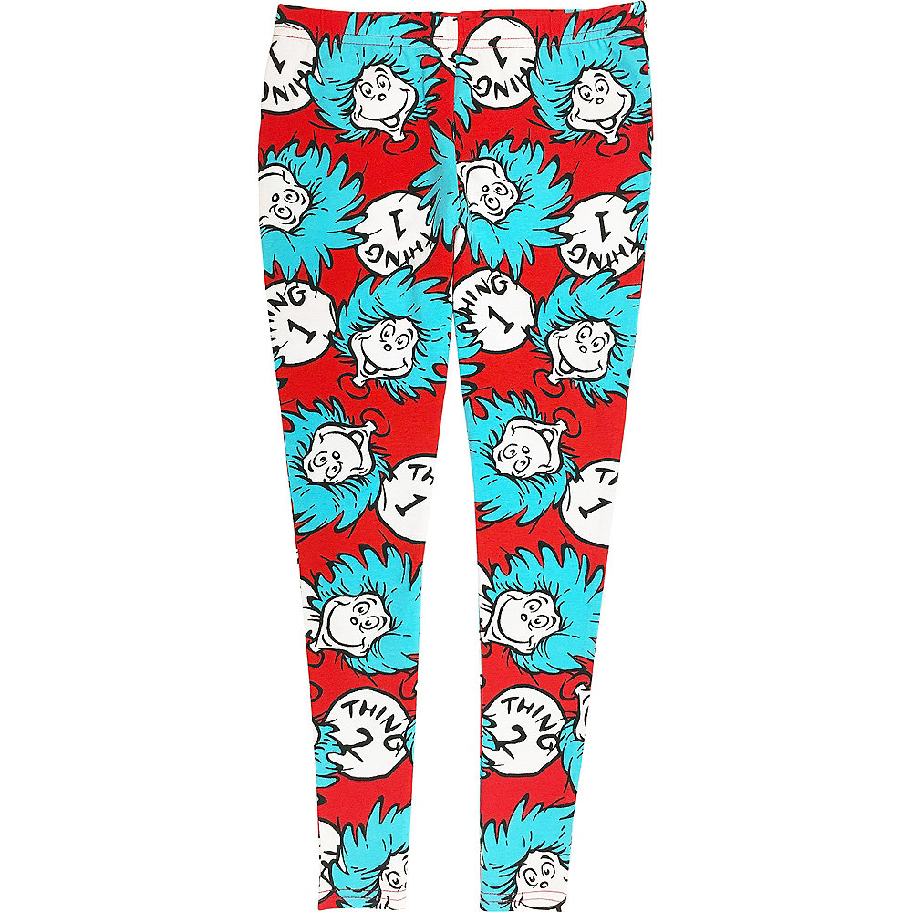 Child Thing 1 & 2 Lounge Leggings - Dr. Seuss Image #1