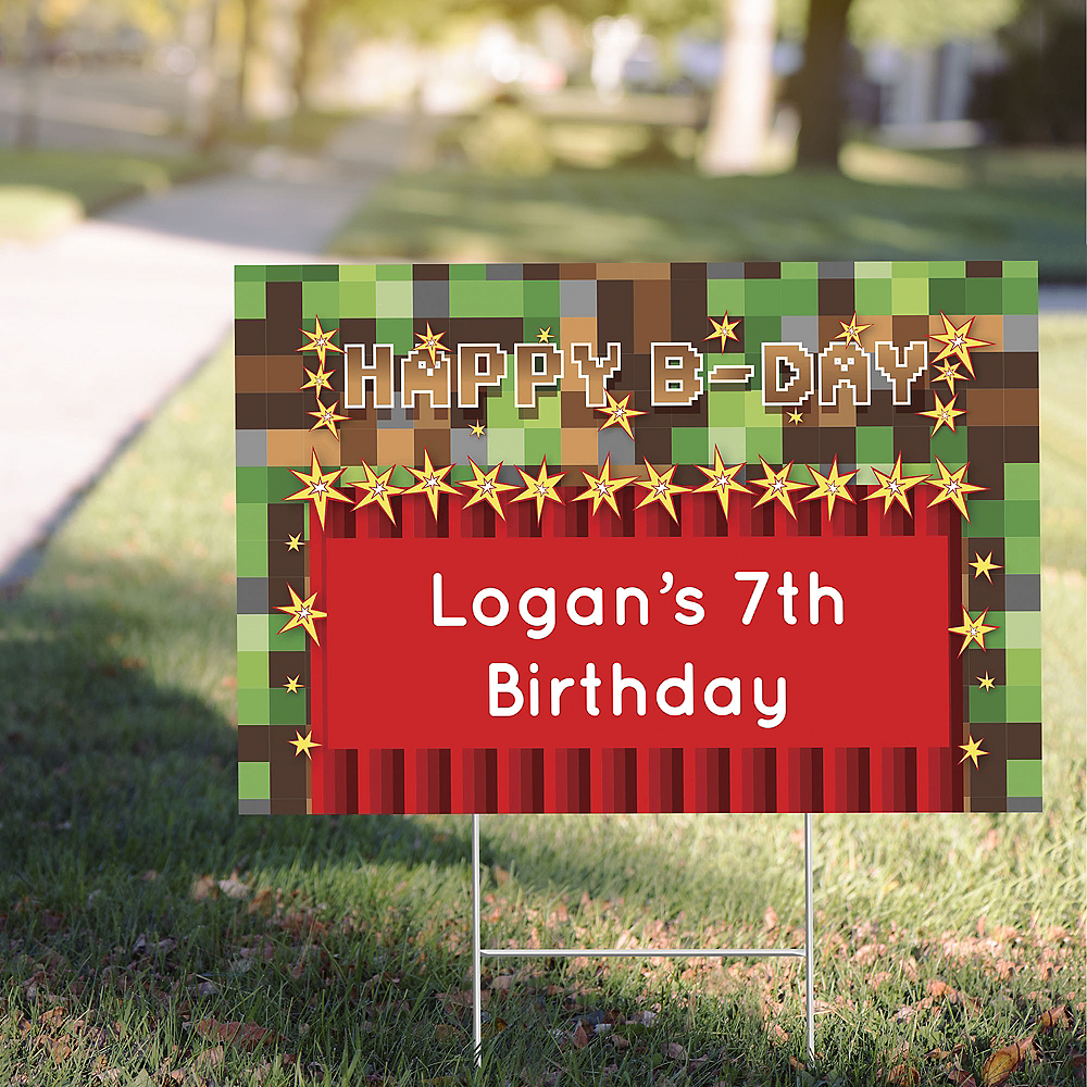 Custom Pixelated Yard Sign Image #1