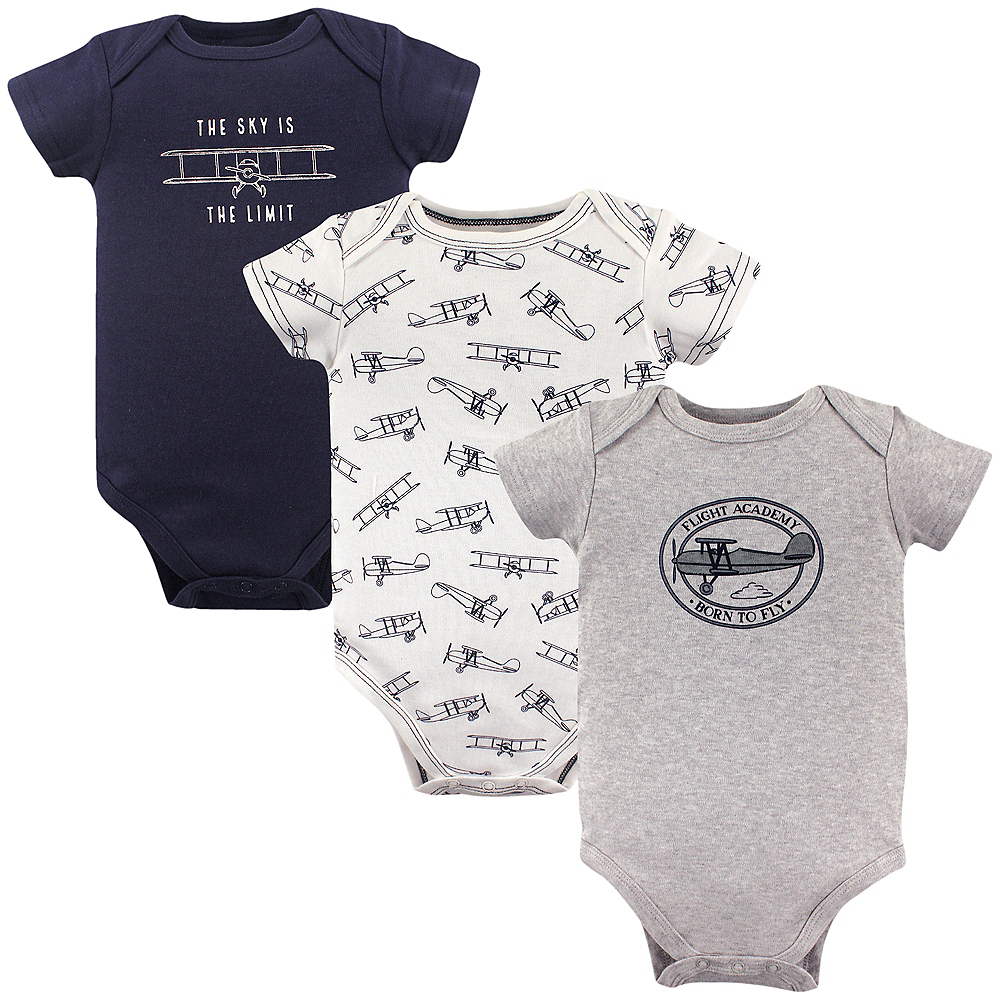 The Sky is the Limit Hudson Baby Bodysuits, 3-Pack Image #1