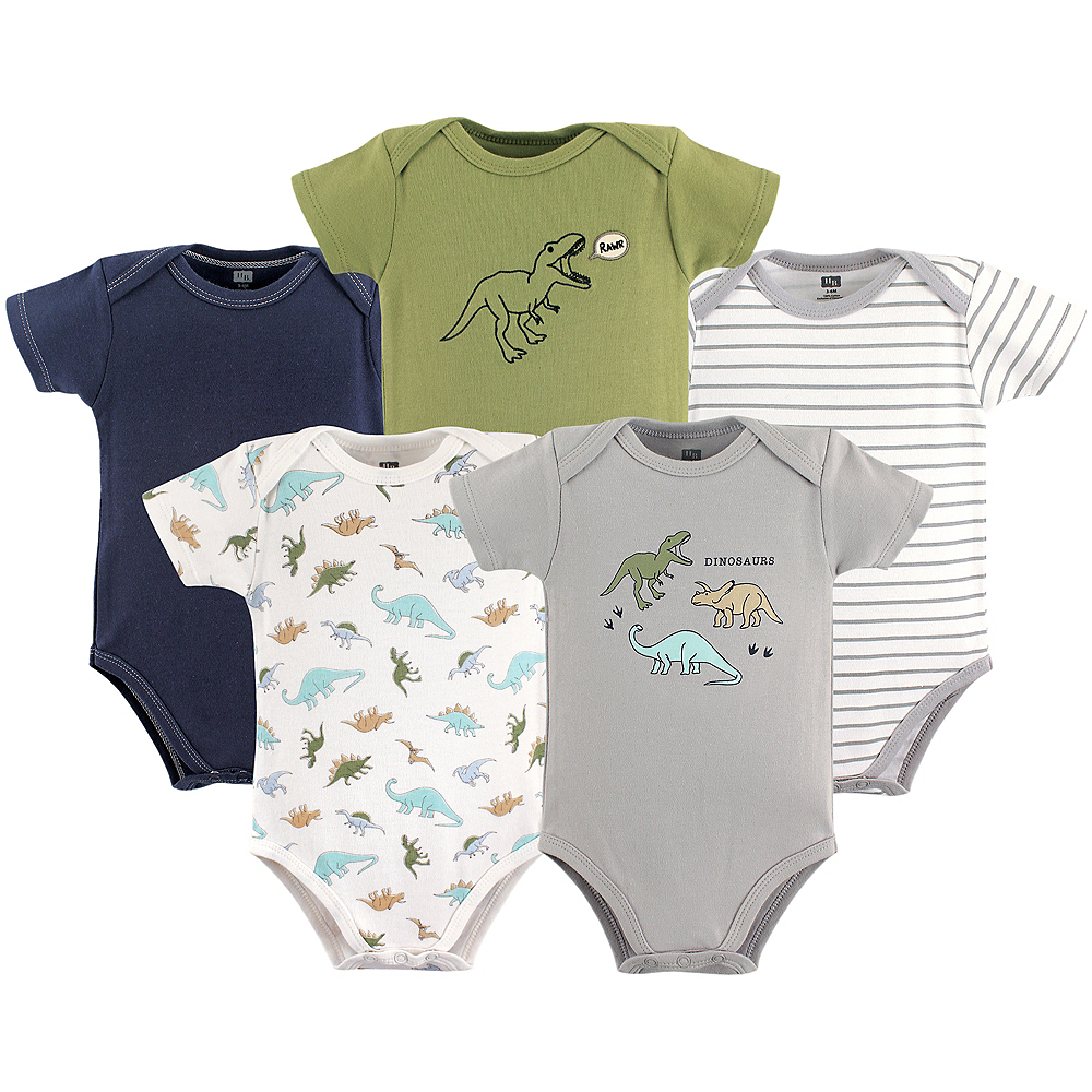 Nav Item for Dinosaurs Hudson Baby Bodysuits, 5-Pack Image #1