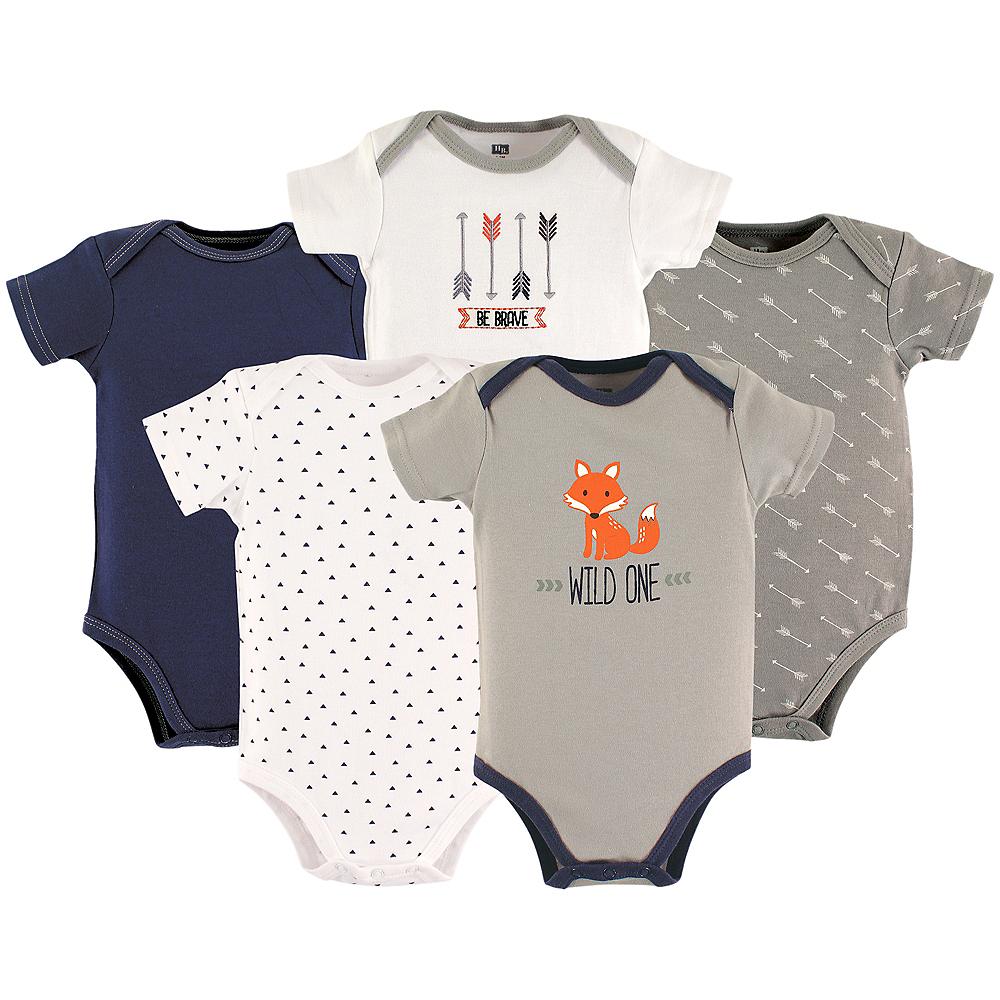 Wild One Hudson Baby Bodysuits, 5-Pack Image #1