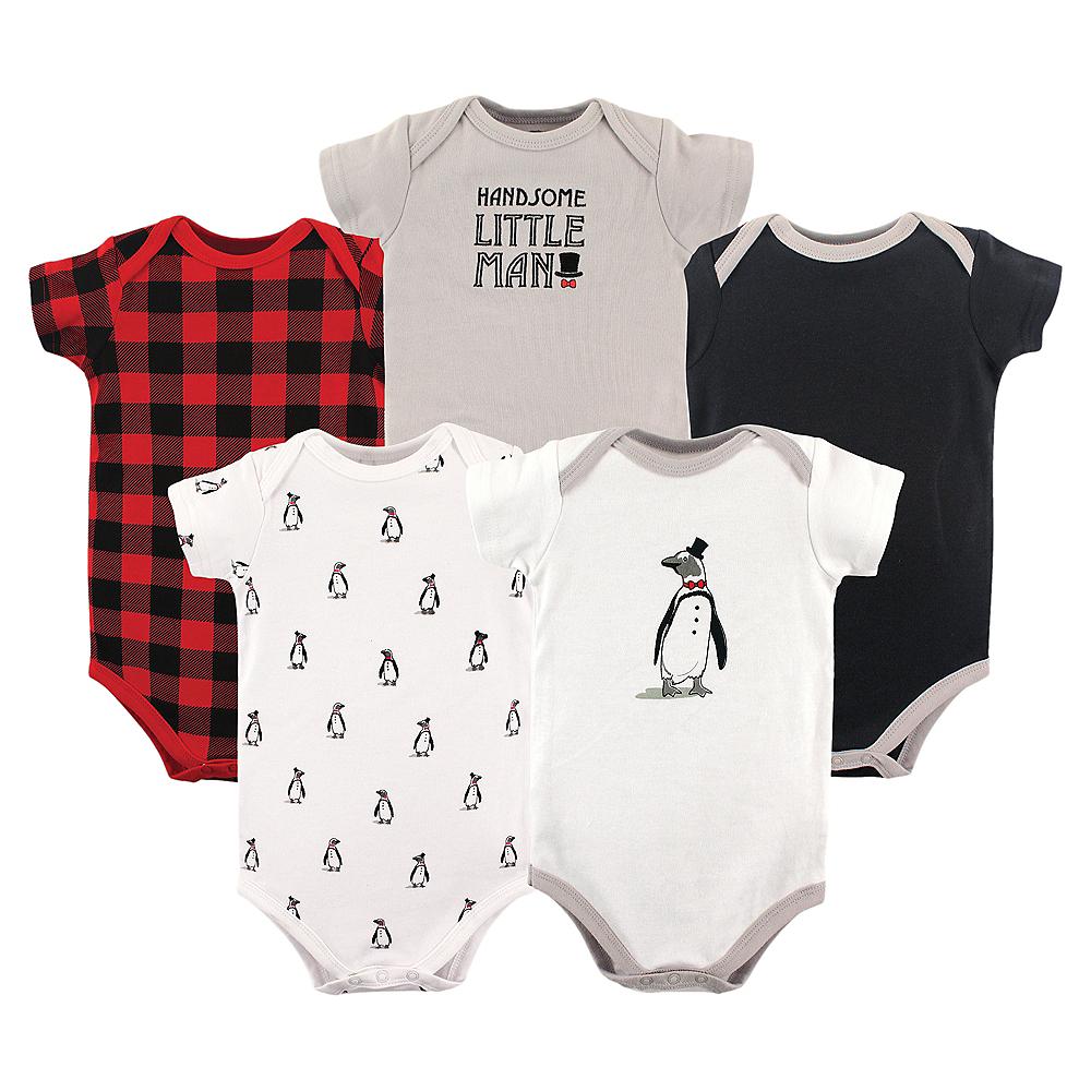 Penguin Hudson Baby Bodysuits, 5-Pack Image #1